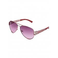 GUESS brýle Chain-Link Aviator Sunglasses rose gold vel.