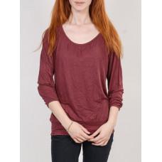 Ezekiel JADE OXBLOOD dámské tričko s dlouhým rukávem - S