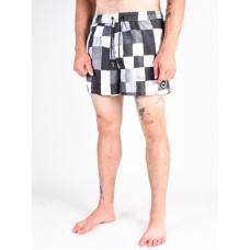 Quiksilver RESIN CHECKVOLL black pánské plavecké šortky - S