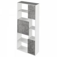 Regál ULIMI bílá/beton - TempoKondela