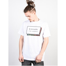Rip Curl PRO MODEL OPTICAL WHITE pánské tričko s krátkým rukávem - XL