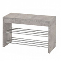 Lavice s botníkem LUSIA beton/chrom - TempoKondela