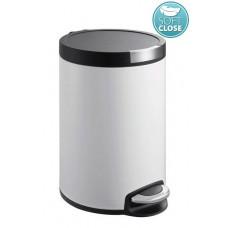 SAPHO - ARTISTIC odpadkový koš 5l, Soft Close, bílá DR142