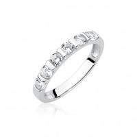 OLIVIE Stříbrný prsten se zirkony 1949 Velikost prstenů: 10 (EU: 62 - 64)
