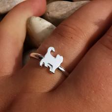 OLIVIE Dětský stříbrný prstýnek KOČKA 0536