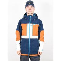 Burton FROSTNER DRSBLU/TRUPEY/STOWHT zimní bunda pánská - M