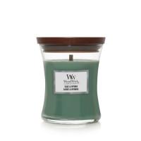 WoodWick vonná svíčka s dřevěným knotem Sage & Myrrh 275g