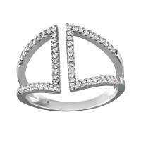 OLIVIE Stříbrný prsten se zirkony 0660 Velikost prstenů: 7 (EU: 54 - 56)