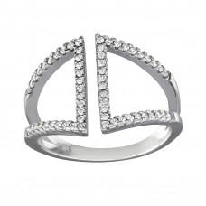 OLIVIE Stříbrný prsten se zirkony 0660 Velikost prstenů: 6 (EU: 51 - 53)