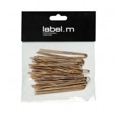 label.m Twisted U-Pin Gold 70mm (40)/Vlásenka do U vroubkovaná zlatá 70mm 40ks