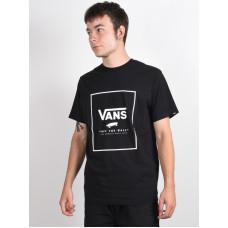 Vans PRINT BOX black/white pánské tričko s krátkým rukávem - XXL