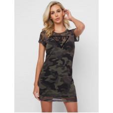 GUESS šaty Wylde Mesh Mini Dress camo vel. M