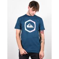 Quiksilver SURE THING MAJOLICA BLUE pánské tričko s krátkým rukávem - S