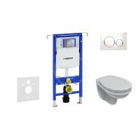 Geberit Sada pro závěsné WC + klozet a sedátko Ideal Standard Quarzo - sada s tlačítkem Sigma20, bílá/lesklý chrom/bílá 111.355.00.5 NR4