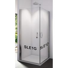 SanSwiss SLE1D 0750 50 07 Pravý díl sprchového koutu s křídlovými dveřmi 75 cm, aluchrom/sklo