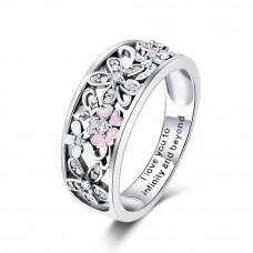 OLIVIE Stříbrný prsten TŘEŠŇOVÝ KVĚT 2888 Velikost prstenů: 7 (EU: 54 - 56)