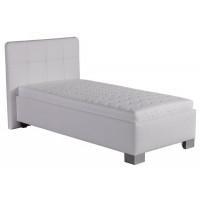 Čalouněná postel Kelly 90x200 bílá koženka - BLANAŘ