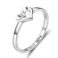 OLIVIE Stříbrný prsten SRDCE BEST LOVE 3393 Velikost prstenů: 8 (EU: 57 - 58)