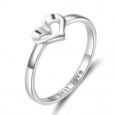 OLIVIE Stříbrný prsten SRDCE BEST LOVE 3393 Velikost prstenů: 7 (EU: 54 - 56)