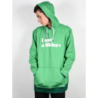 Line I Am A Skier KELLY GREEN pánská mikina - S