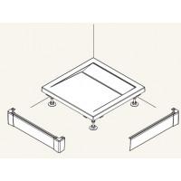 SanSwiss PWIL 090 090 50 Přední panel L hliník pro čtvercovou vaničku 90×90 cm - aluchrom