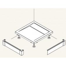 SanSwiss PWIL 080 080 04 Přední panel L hliníkový pro čtvercovou vaničku 80×80 cm - bílý