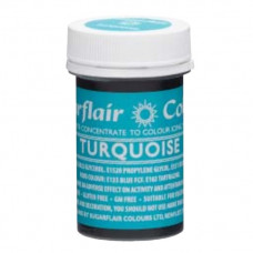Sugarflair Gelová barva potravinářská Tyrkysově modrá (turquoise) 25g