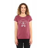 Horsefeathers ARROW LOVE mauwe dámské tričko s krátkým rukávem - L