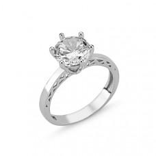 OLIVIE Stříbrný prsten se zirkonem 2072 Velikost prstenů: 9 (EU: 59 - 61)