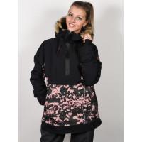 Roxy SHELTER TRUE BLACK POPPY zimní bunda dámská - S