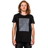 Horsefeathers TAPER black pánské tričko s krátkým rukávem - M