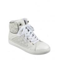 GUESS tenisky Revera Tweed High-Top Sneakers bílé vel. 38