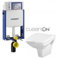 GEBERIT - SET Kombifix KOMBIFIX ECO pro závěsné WC, nádržka UP 320 bez Ovládací desky + WC CERSANIT CARINA CLEANON + SEDÁTKO (110.302.00.5 CA1)