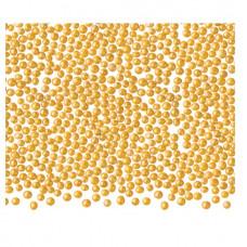 Cukrové zdobení - Kuličky dekorační zlaté, máček