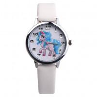 Dětské stříbrné hodinky Můj malý pony - 2 barvy Barva: Bílý