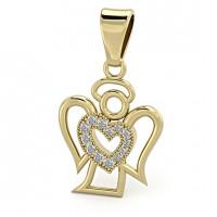 Zlato Zlatý dámský přívěsek Angel II 6620223