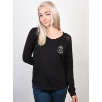 Roxy POTATO MOONLIGHT ANTHRACITE dámské tričko s dlouhým rukávem - L