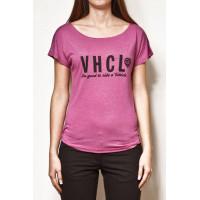 Vehicle CHARACTERA PINK HEATHER dámské tričko s krátkým rukávem - L