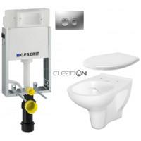 GEBERIT - SET KOMBIFIXBasic včetně ovládacího tlačítka DELTA 21 MAT pro závěsné WC CERSANIT ARTECO CLEANON + SEDÁTKO (110.100.00.1 21MA AT2)