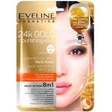 Eveline Cosmetics 24k Gold Ultra textilní maska s 24k zlatem 20 ml