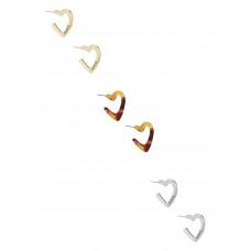 GUESS náušnice Tortoiseshell Heart Hoop Earrings Set vel. P2640966042A