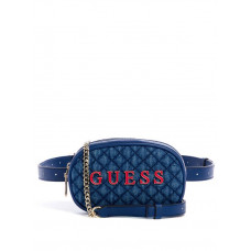 GUESS ledvinka Passion Crossbody Belt Bag denim vel.