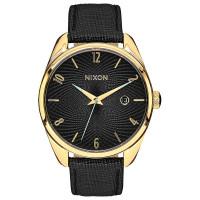 Nixon BULLET LEATHER GOLDBLACK dámské hodinky analogové