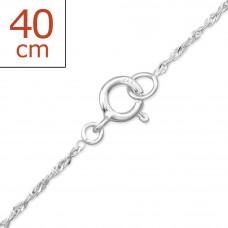 OLIVIE Stříbrný řetízek 40 cm 0516
