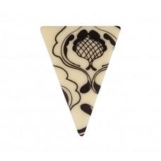 Dekorace čokoládová - ARRAS trojúhelníky, 20 ks
