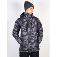 Quiksilver MISSION BLACK GREY CAMOKAZI zimní bunda pánská - XL