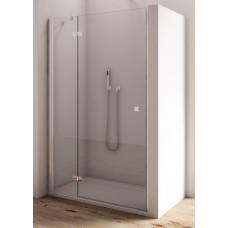 SanSwiss AN13 G 0750 50 07 Jednokřídlé dveře 75 cm s pevnou stěnou v rovině, levé, aluchrom/sklo