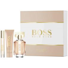 Hugo Boss The Scent Her parfémovaná voda 50 ml + parfémovaná voda 7,4 ml + tělové mléko 50 ml dárková sada