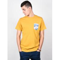 Billabong ROUTE 73 BRIGHT GOLD pánské tričko s krátkým rukávem - XL