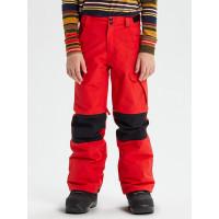 Burton EXILE CARGO FLAME SCARLET zateplené kalhoty dětské - XL